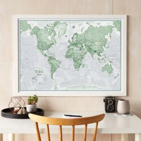 The World Is Art - Wall Map Green