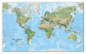 Large World Wall Map Environmental (Canvas)