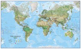 Large World Wall Map Environmental (Paper)