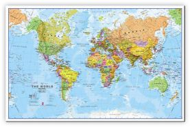 Small World Wall Map Political (Canvas)