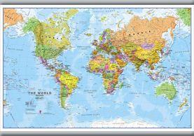 Small World Wall Map Political (Hanging bars)
