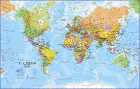 Small World Wall Map Political (Paper)