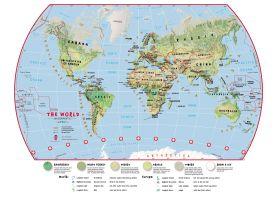 Primary World Wall Map Environmental