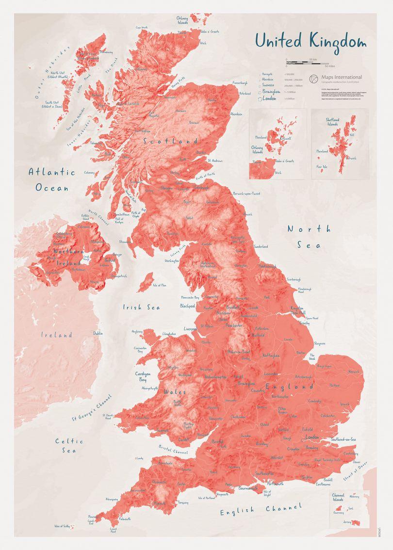 UK as Art Map - Gravlax (Matt Art Paper)