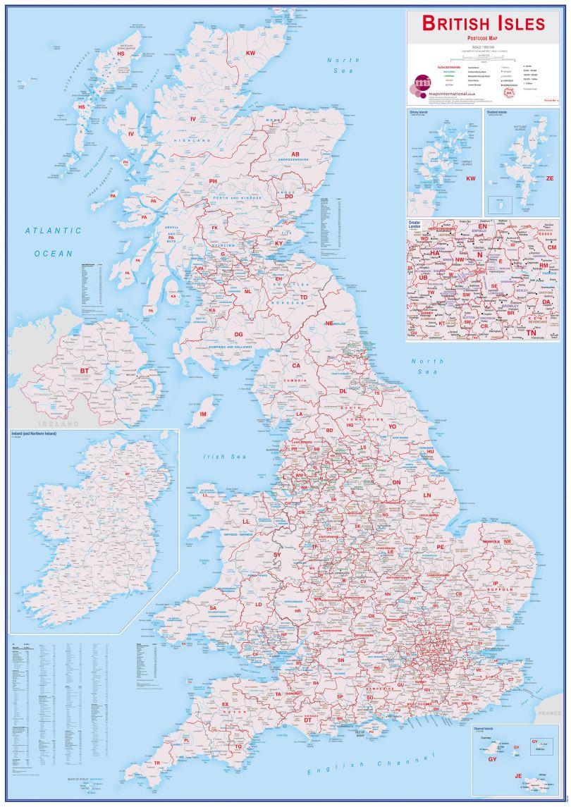 British Isles Postcode Map