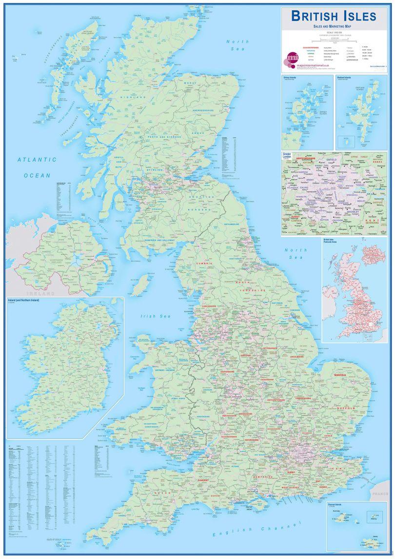 British Isles Sales and Marketing Map