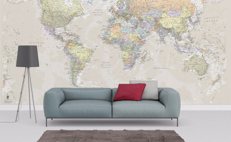 Classic World Map Wallpaper