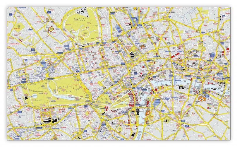 Huge A-Z Visitors' Map London (Canvas)