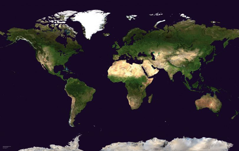 Satellite Map of the World