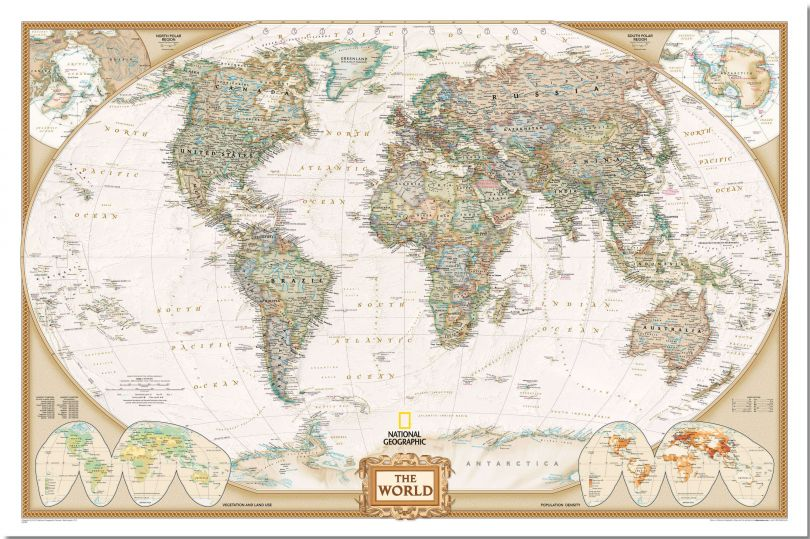 National Geographic World Executive Map (Pinboard)