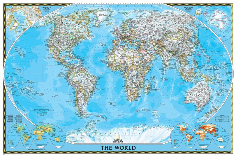 National Geographic World Classic Map