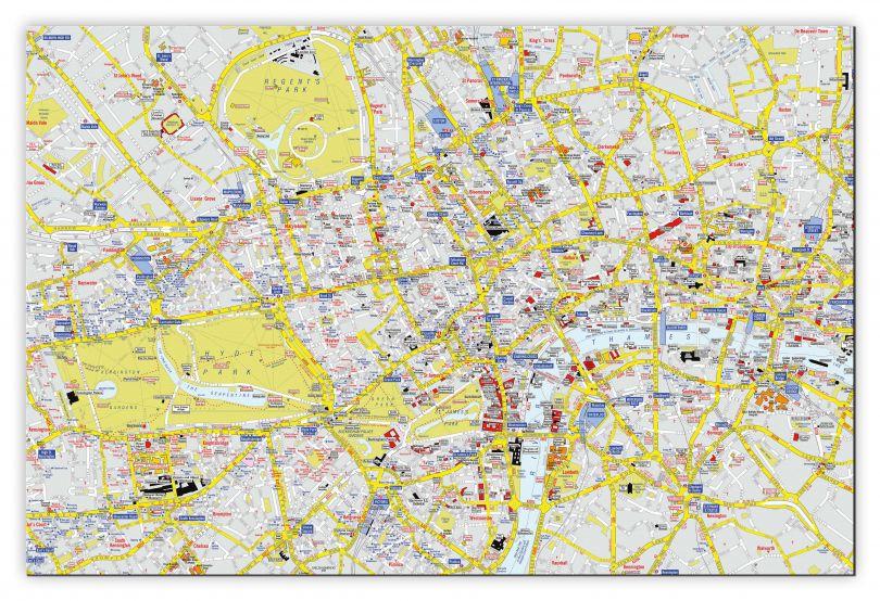 Large A-Z Visitors' Map London (Canvas)