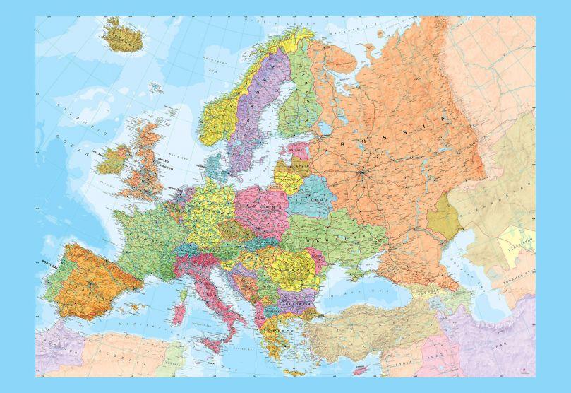 Europe Political Map Wallpaper