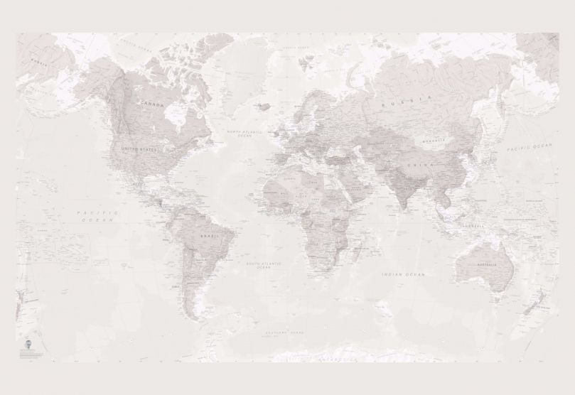 Faded World Map Wallpaper
