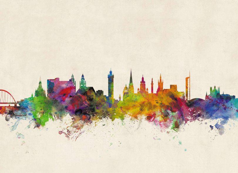 Glasgow City Skyline