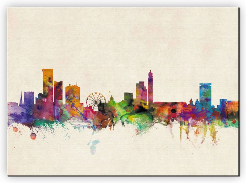 Huge Birmingham City Skyline (Canvas)