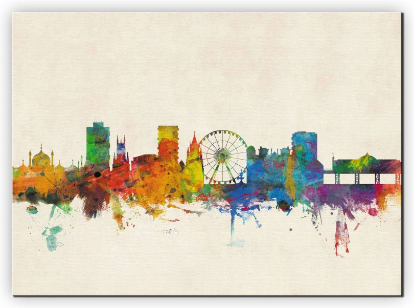 Extra Small Brighton City Skyline (Canvas)