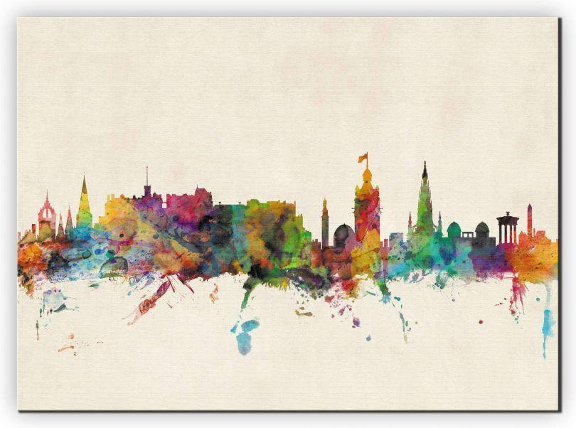 Large Edinburgh City Skyline (Canvas)