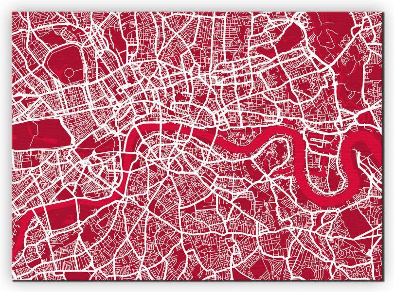Large London Street Art Map (Canvas)