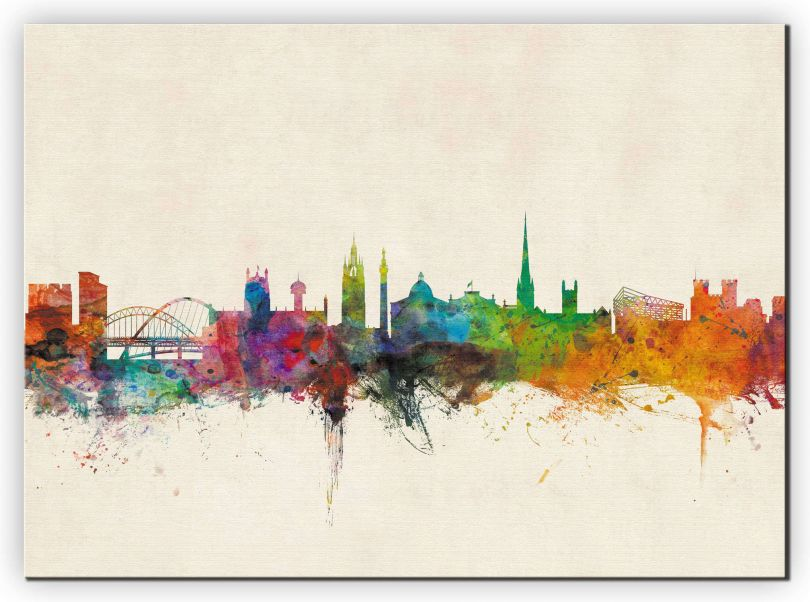 Medium Newcastle City Skyline (Canvas)