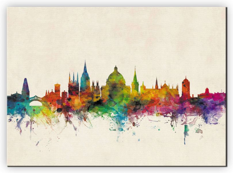 Medium Oxford City Skyline (Canvas)