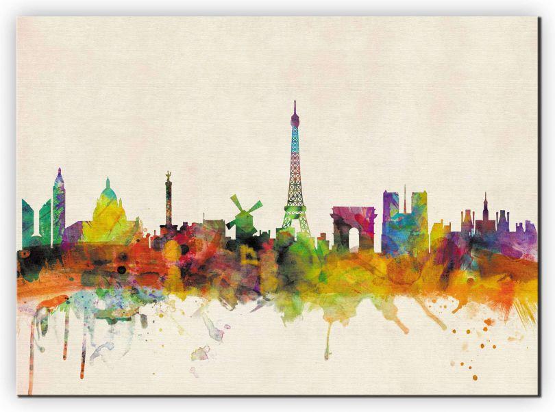 Huge Paris City Skyline (Canvas)