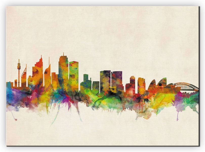 Medium Sydney City Skyline (Canvas)