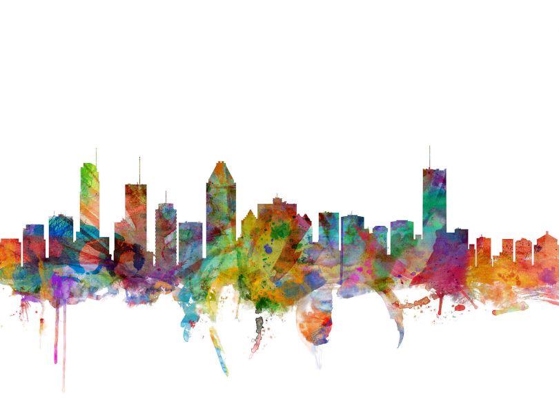 Montreal Watercolour Skyline