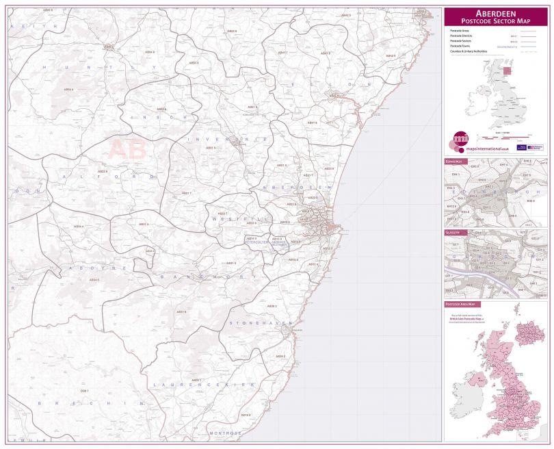 Aberdeen Postcode Sector Map