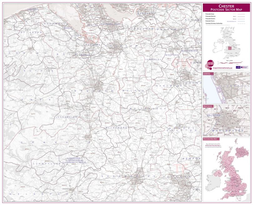 Chester Postcode Sector Map