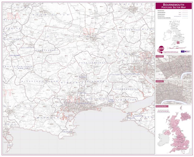 Bournemouth Postcode Sector Map