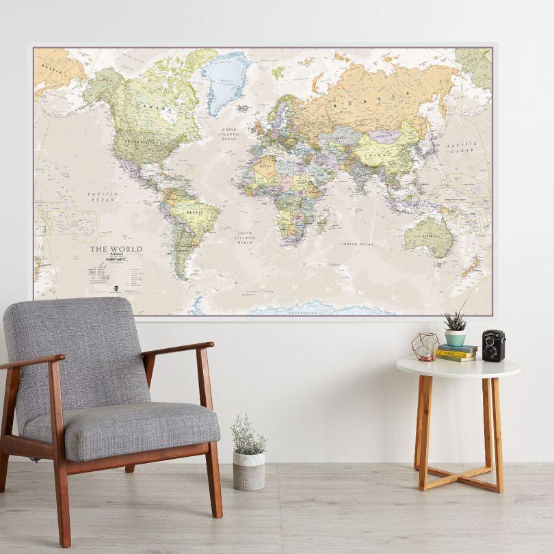 Huge Classic World Map (Laminated)