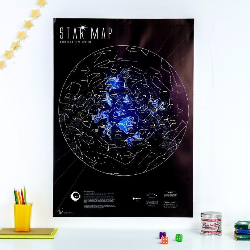 Glow in the Dark Star Map (Silk Art Paper)