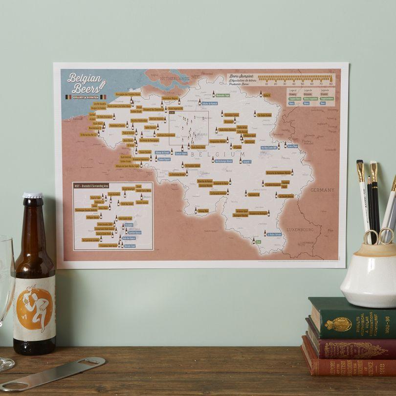 Scratch Off Belgium Beers Print (Silk Art Paper)