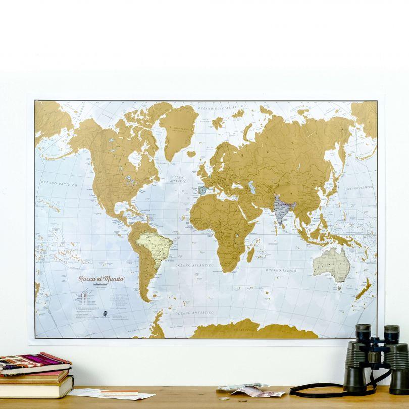 Scratch the World® - Spanish Language (Silk Art Paper)