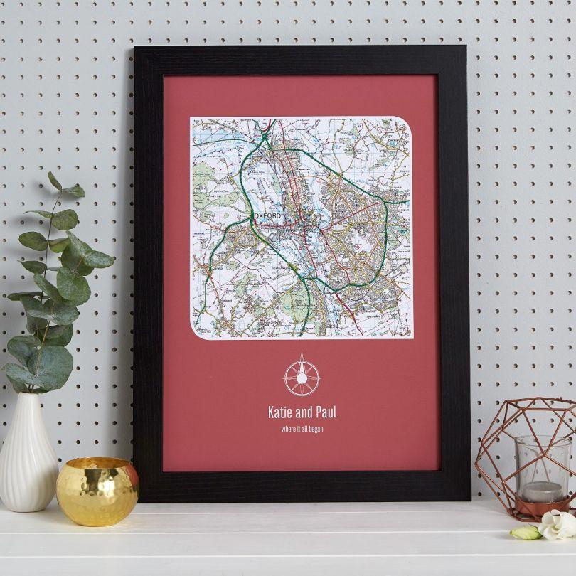 Personalised Postcode Map Print
