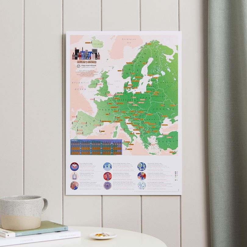 Scratch Off European City Breaks Print