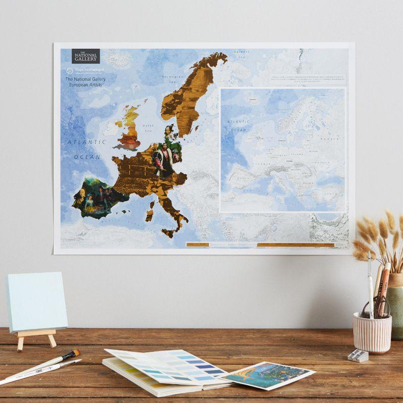 Scratch Off National Gallery European Artists Print