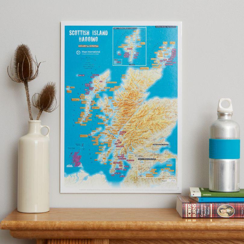 Scratch off Scottish Island Bagging Print (Silk Art Paper)