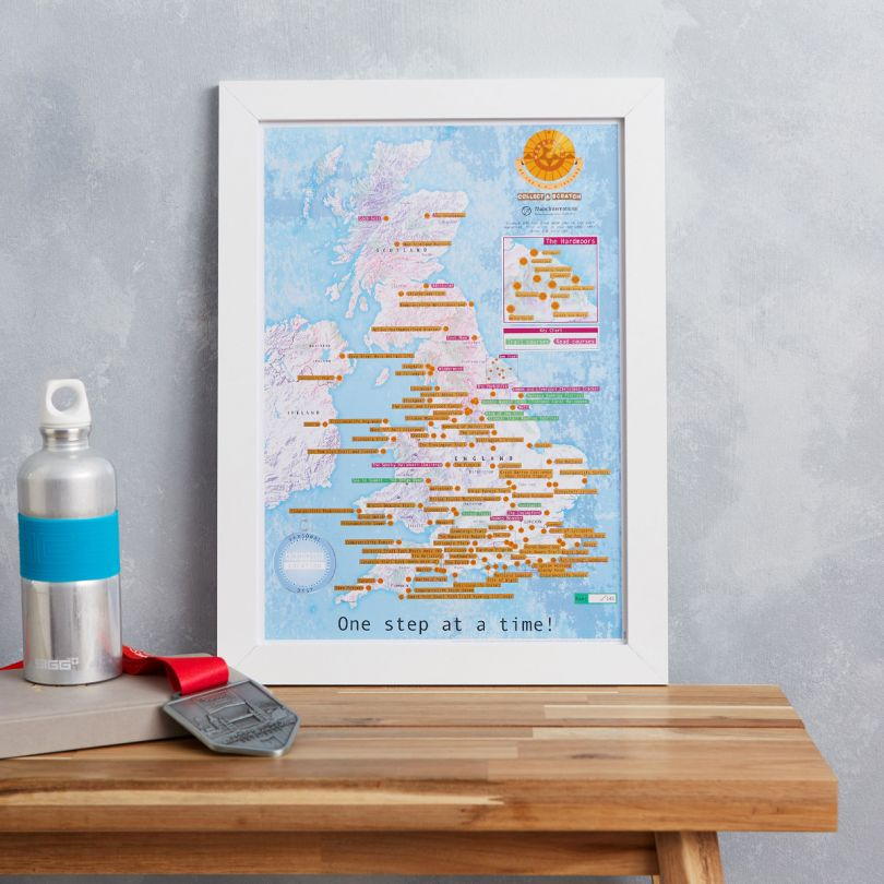 Scratch Off UK and Ireland Marathons Print