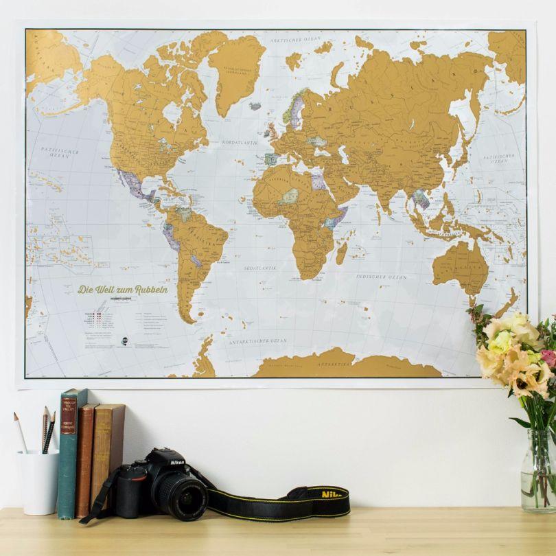 Scratch the World® - German Language (Silk Art Paper)