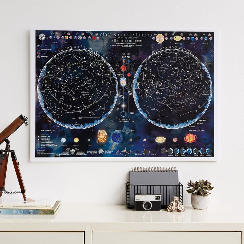Stars and Constellations Glow Map
