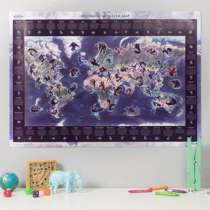 Mythical Monster World Map