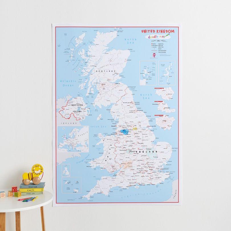 Doodle UK Map (Paper)