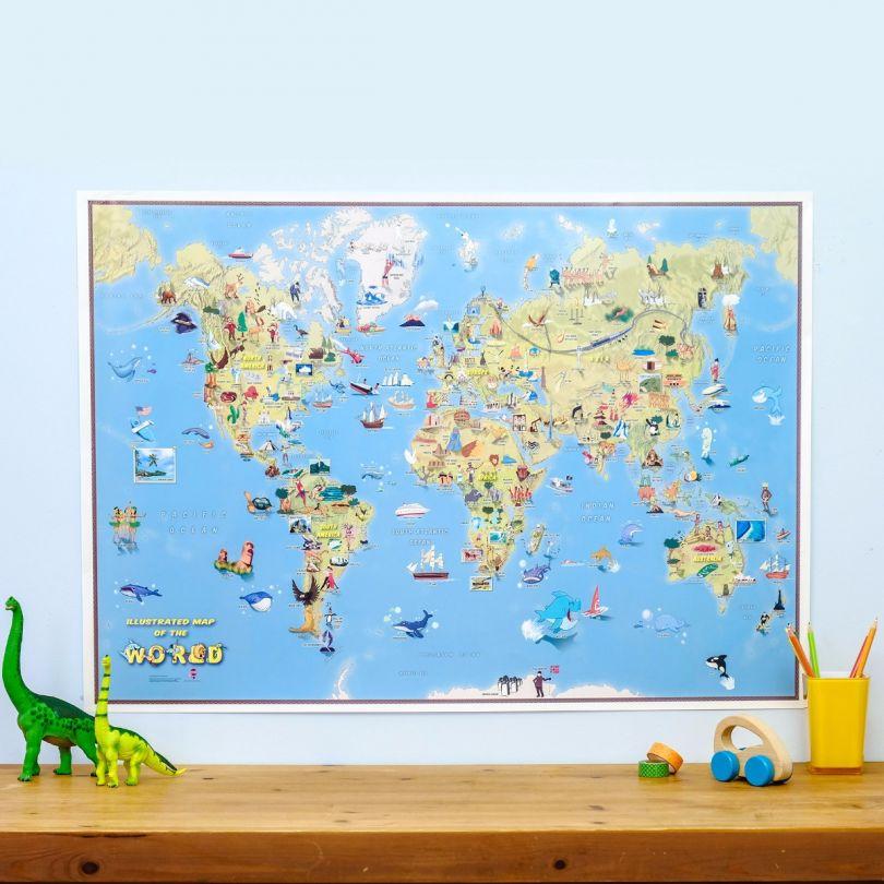 Kids Cartoon World Map