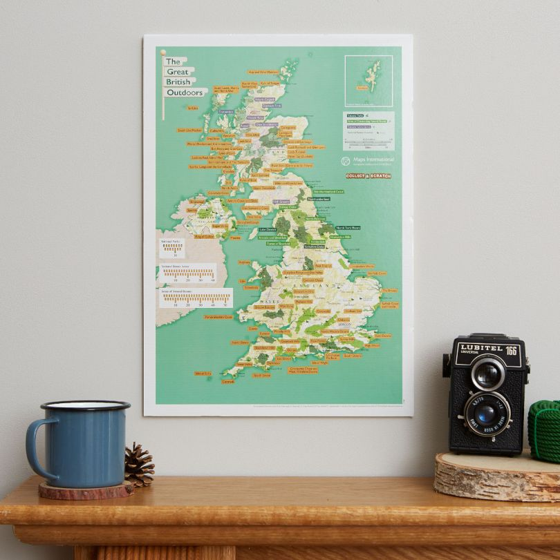 Scratch Off British National Parks & Outdoors Print (Silk Art Paper)