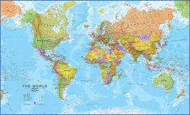 World Wall Map Political