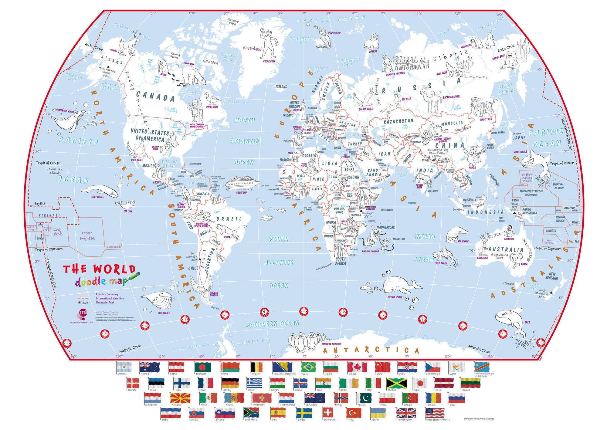 Doodle World Map With Crayons - Scratch off us state maps with pencil 25 pack