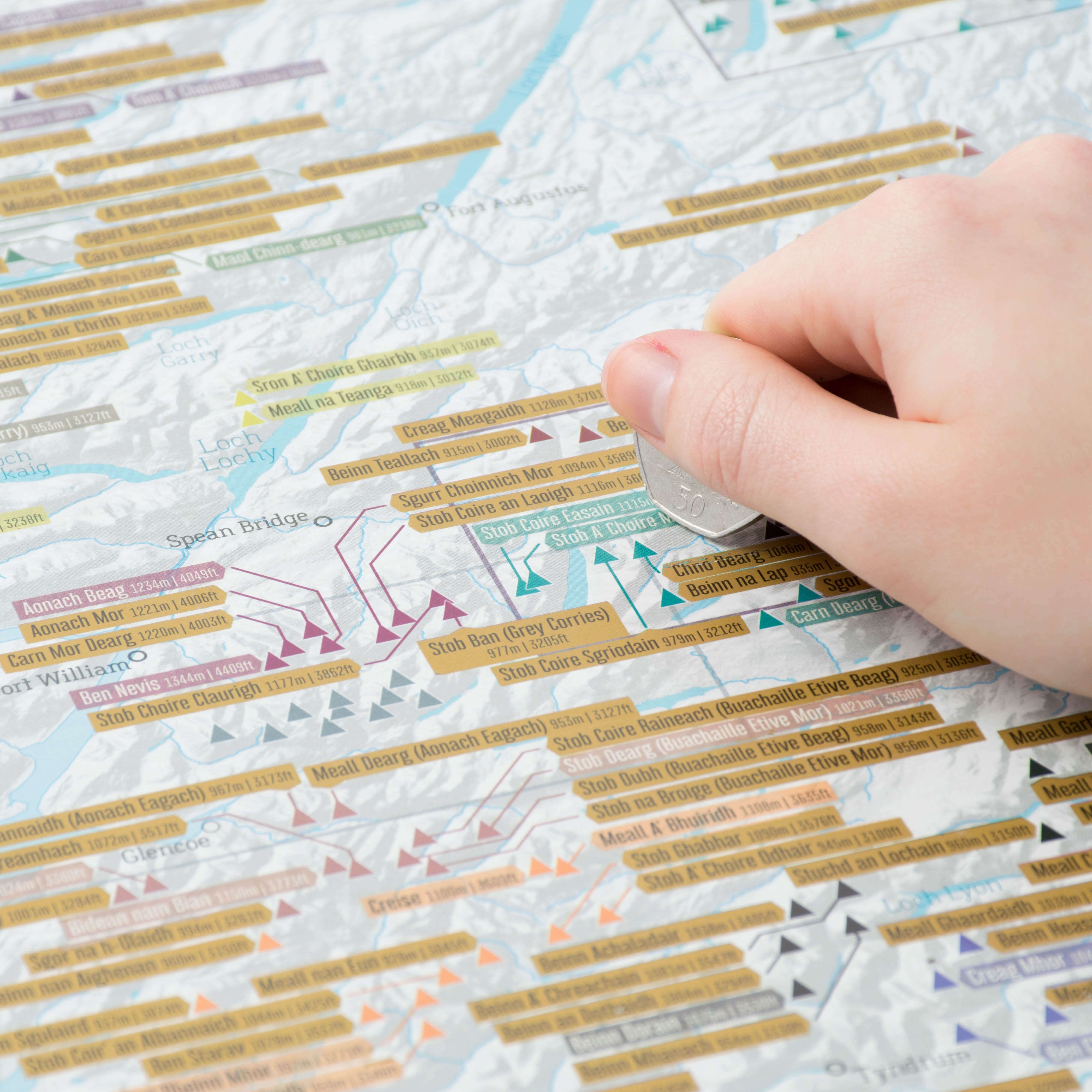 Scratch Off Munrobagging Print - Scratch off us state maps with pencil