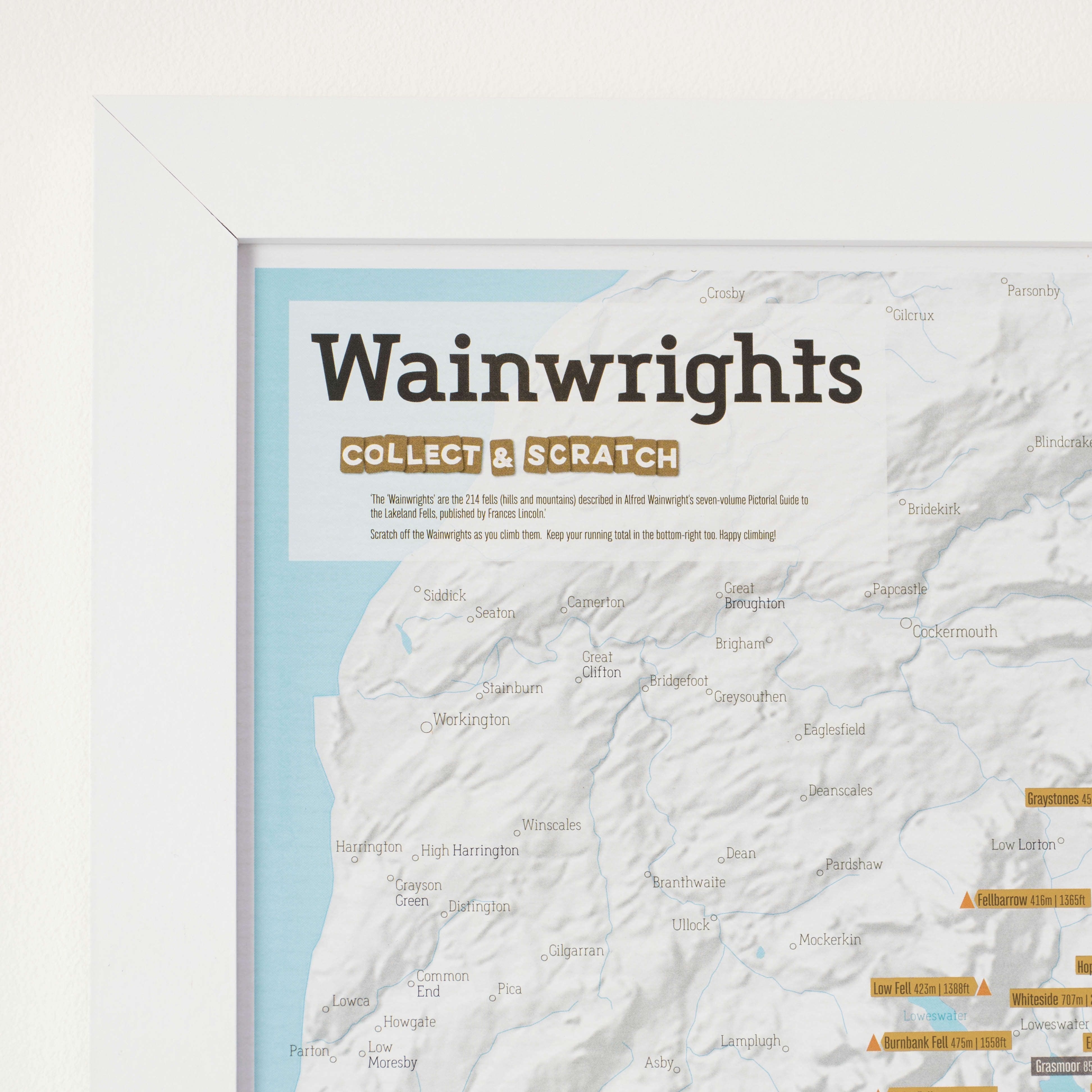 Scratch Off Wainwright Hillbagging Print - Scratch off us state maps with pencil